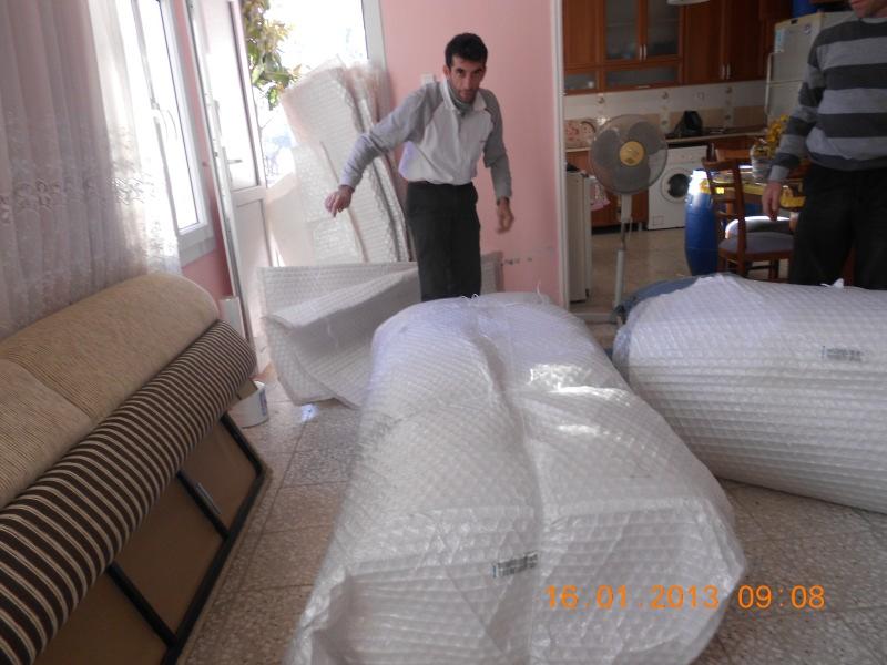 Evden eve taşımacılık paketleme ve taşıma