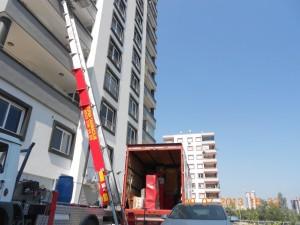 Adana evden eve nakliyat 21 katlı vinç