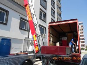Adana evden eve vinç hizmeti tufan nakliyat