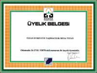 Taşımacılık üyelik belgesi